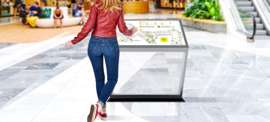 Display touch screen directory mall Way finding