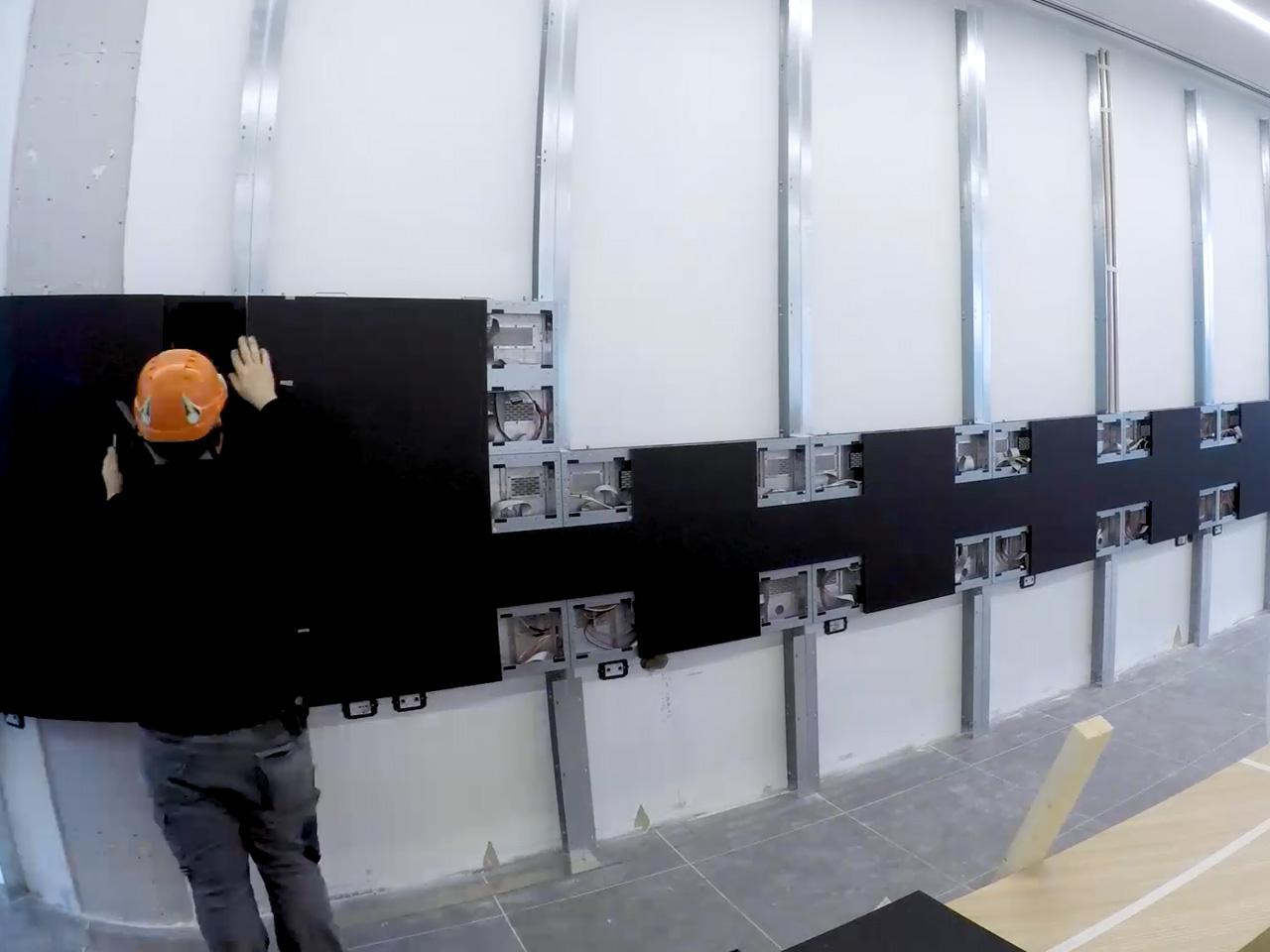 Montaggio ledwall videowall contenuti spettacolari