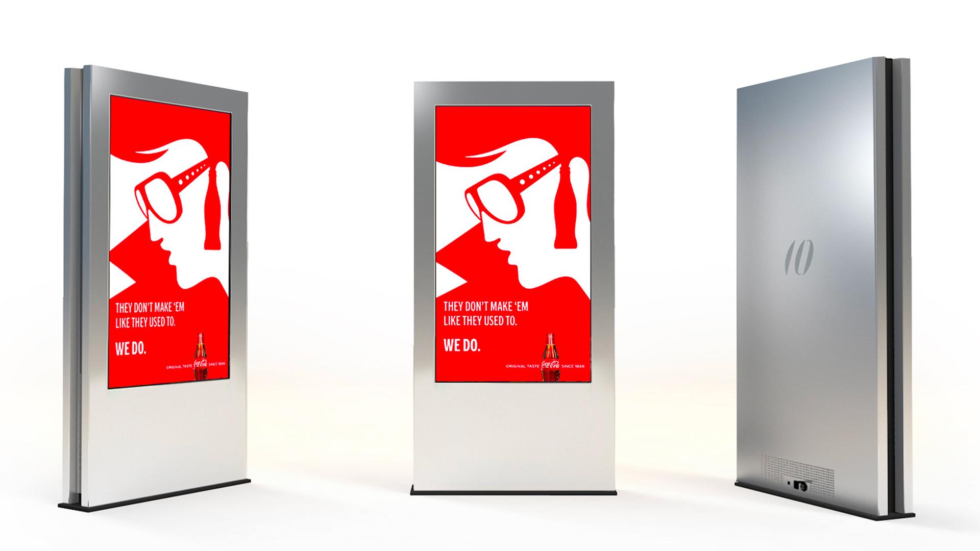 Totem pubblicitario outdoor 75 pollici LCD per esterni formato MUPI smartcity