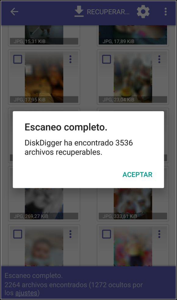 recuperar fotos WhatsApp DiskDigger
