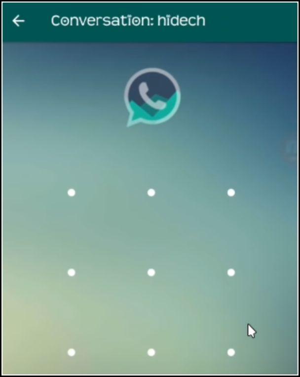 desbloquear chat WhatsApp con patrón