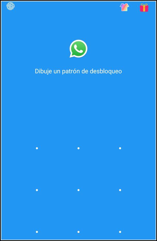 desbloquear WhatsApp con patrón
