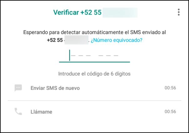 verificar número de WhatsApp