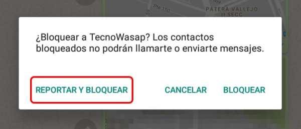 Cómo reportar SPAM en WhatsApp