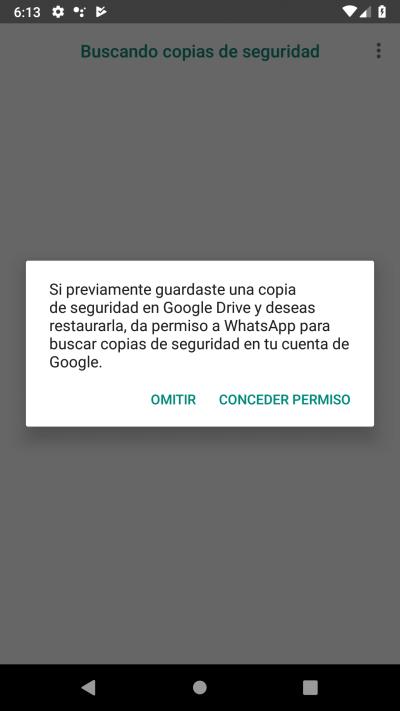 conceder permiso Google Drive