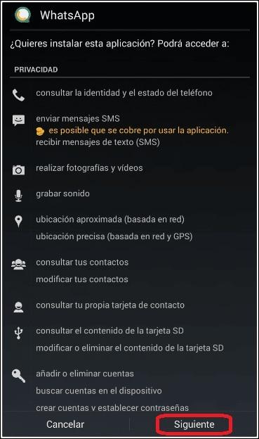 instalación whatsapp material d2