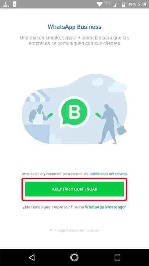 Registro WhatsApp Business