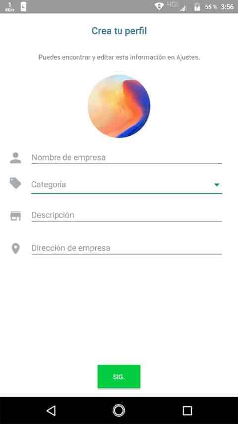 Perfil de empresa WhatsApp Business