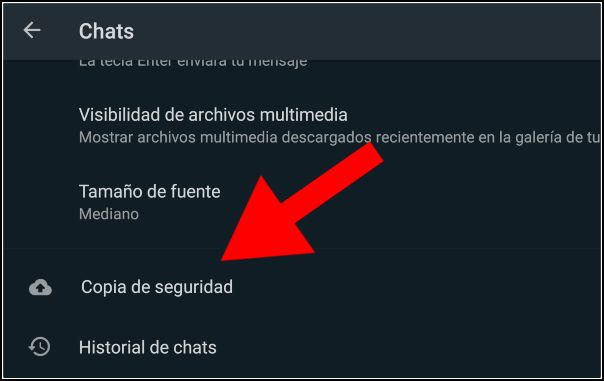 copia de seguridad WhatsApp de WhatsApp