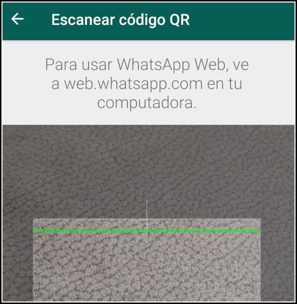 Escanear código QR con WhatsApp Web