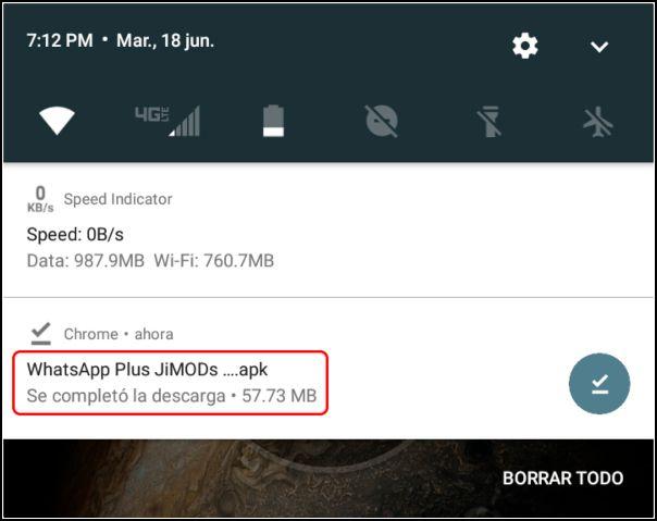 WhatsApp Plus Jimods descargado