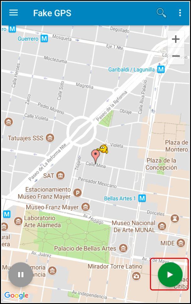 establecer ubicación falsa en GPS