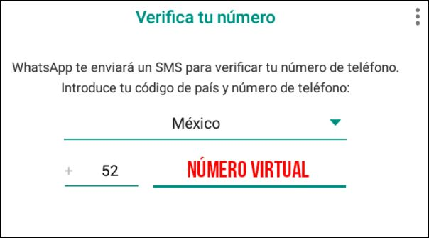 verificar número de WhatsApp virtual