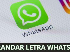agrandar letra WhatsApp