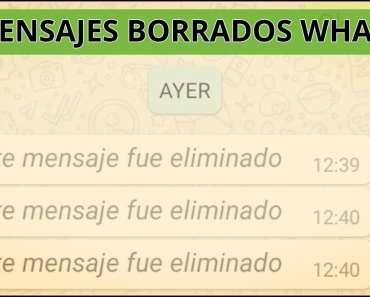 mensajes eliminados WhatsApp