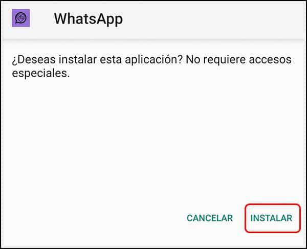 Instalación WhatsApp Femenino