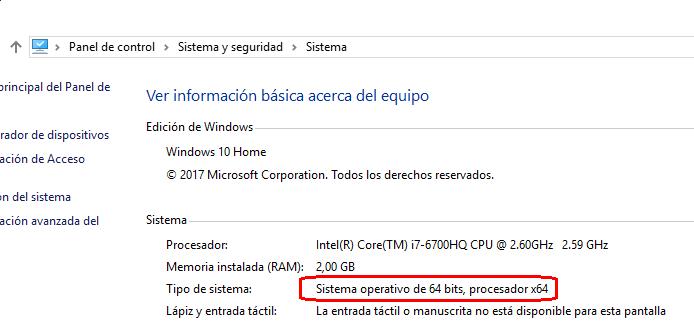 Windows 10 de 64 bit
