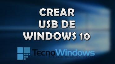 Cómo crear un USB de instalación de Windows 10 1