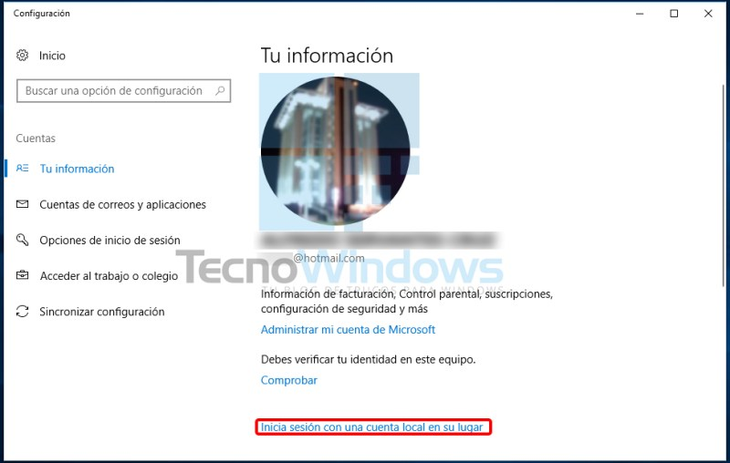 Cómo quitar la contraseña en Windows 10 3