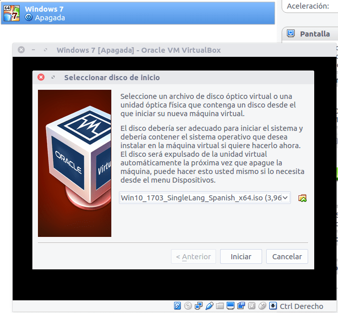 Cómo instalar Windows 7 desde VirtualBox