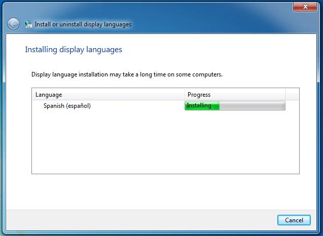 instalando pack de idioma en español