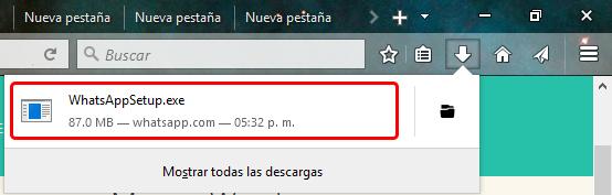 Instalar programa WhatsApp en Windows