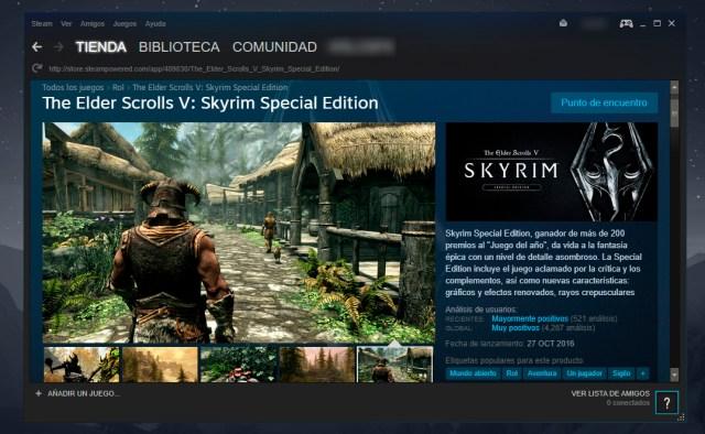 Skyrim en Steam