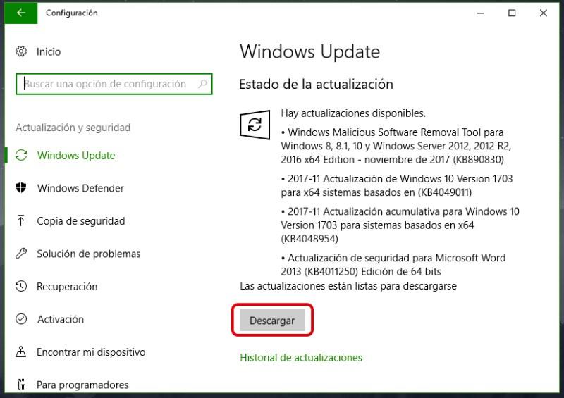 Cómo actualizar a Windows 10 Fall Creators Update 2