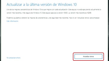 Cómo actualizar a Windows 10 Fall Creators Update