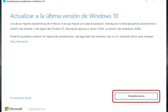Cómo actualizar a Windows 10 Fall Creators Update
