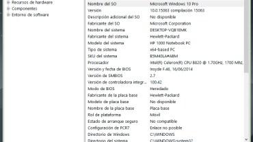 Cómo ver las especificaciones de hardware de mi PC en Windows