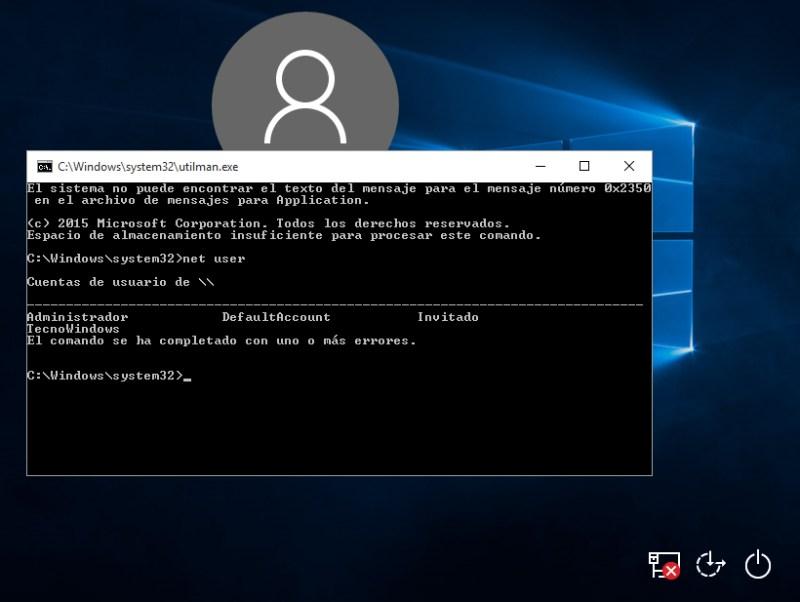 Cambiar la contraseña de usuario de Windows 10