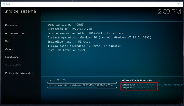 Cómo instalar Kodi 18 en Windows 10