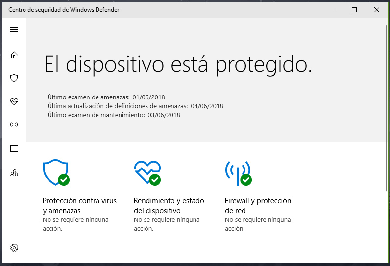 Restaurar icono de Windows Defender tras instalar otro antivirus