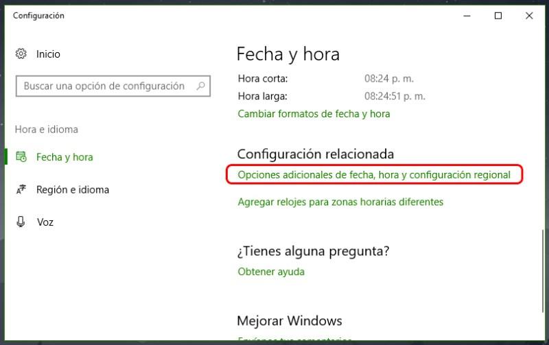 Fecha y hora incorrectas en Windows 10: Solución 2