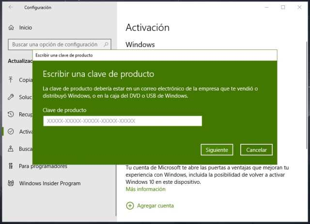 Cómo actualizar Windows 10 Home a Windows 10 Pro