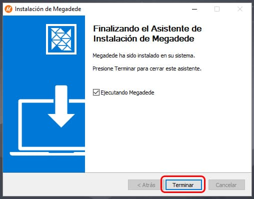 Instalar Megadede en PC