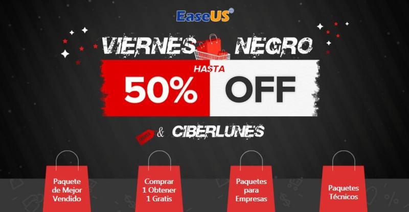 Ofertas de viernes negro en software de Easeus