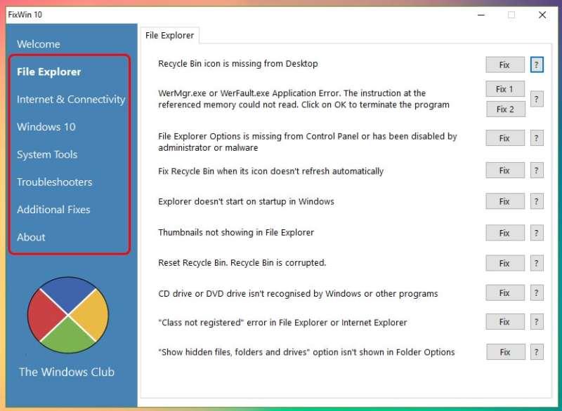 Cómo usar FixWin 10 para reparar Windows 10