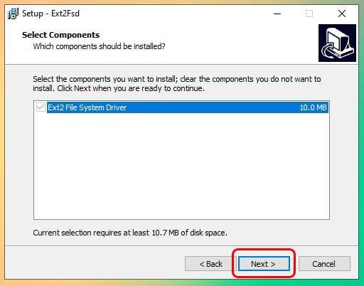 Cómo montar y leer particiones Ext4 en Windows 10 3