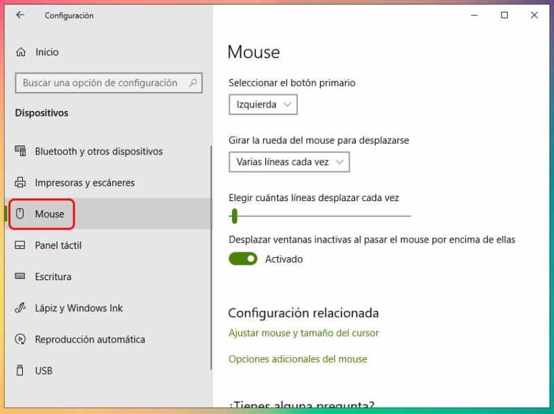 Cómo cambiar el puntero del mouse en Windows 10 3