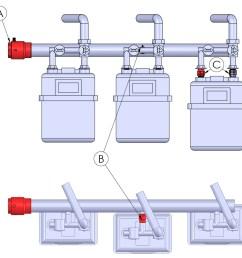 multi media gas manifold firebag installations [ 968 x 920 Pixel ]