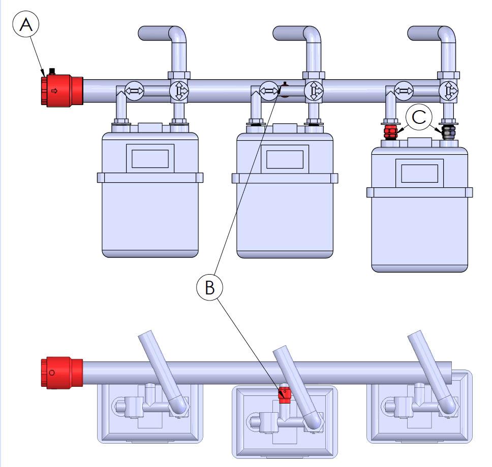 hight resolution of multi media gas manifold firebag installations