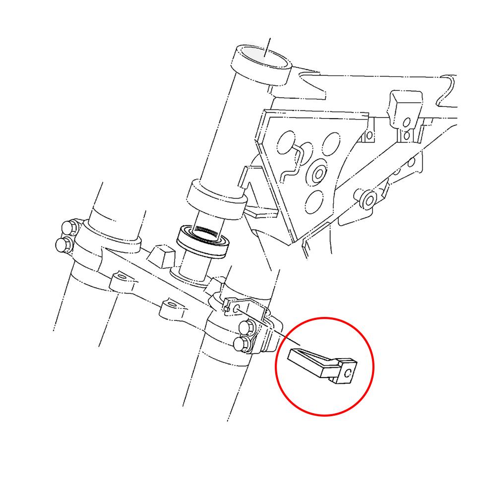 CNC Front Brake Line Hose Clamps Holder For Yamaha YZ80