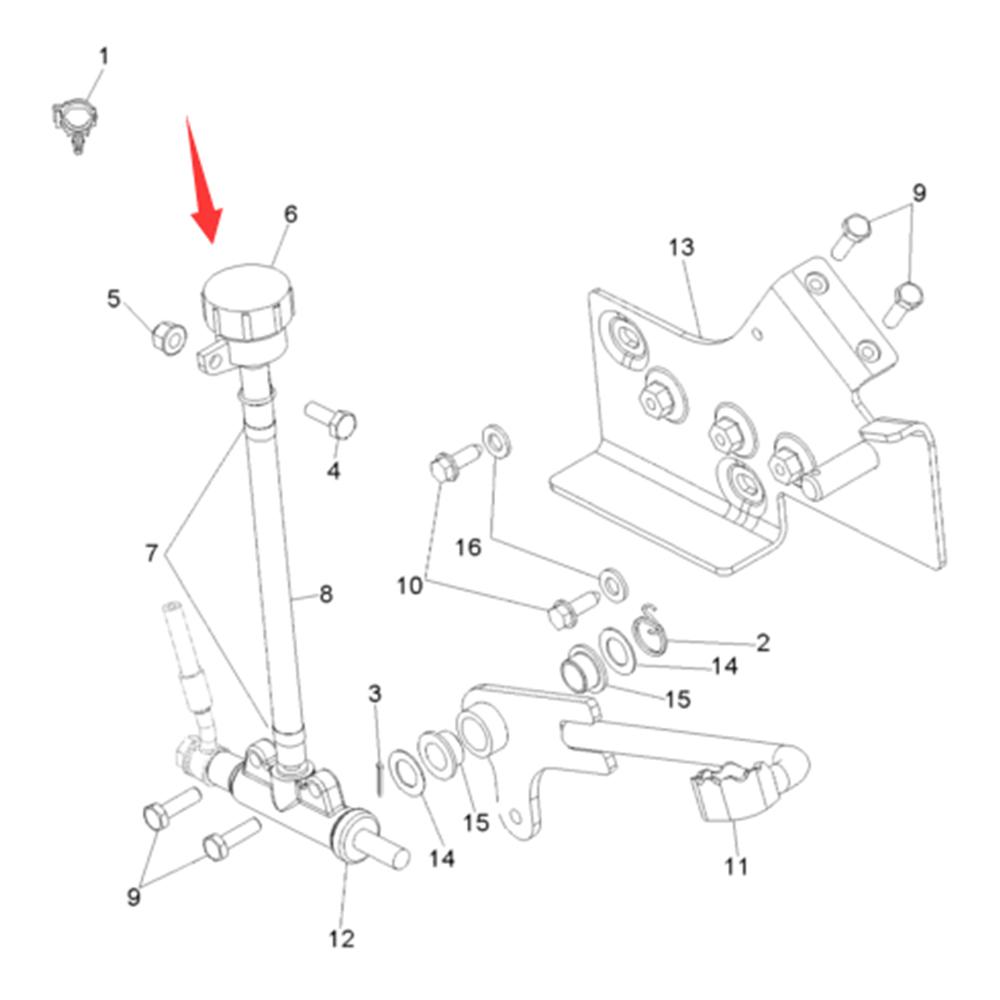 Rear Brake Fluid Reservoir Plastic For Polaris Worker 335