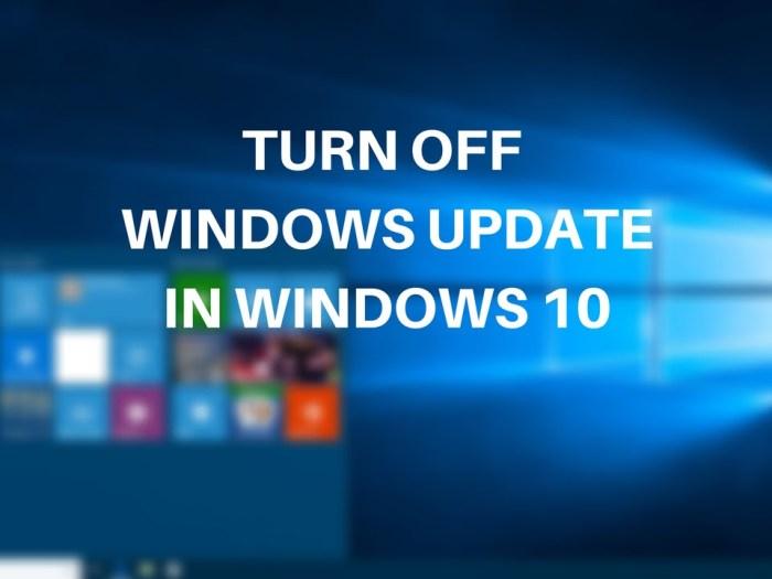 turn off windows 10 updates