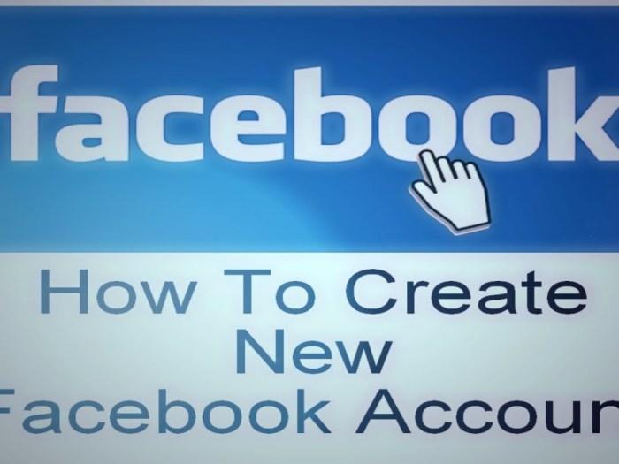 Create New Facebook