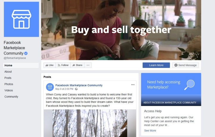 Selling Via Facebook