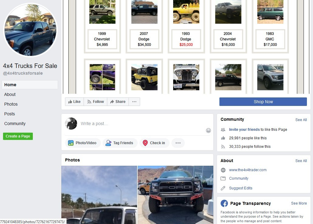Facebook Truck for Sale