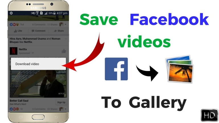 save facebook video
